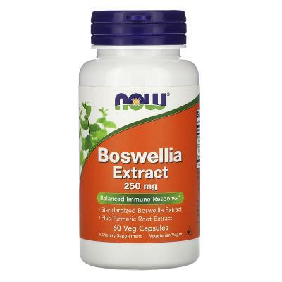 Экстракт босвеллии, Boswellia Extract, Now Foods, 250 мг, 60 растительных капсул