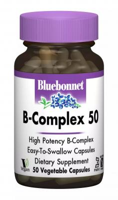 В-Комплекс 50, Bluebonnet Nutrition, 100 гелевых капсул
