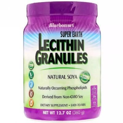 Лецитин, Lecithin Granules, Super Earth, Bluebonnet Nutrition, 360 гр (12.7 унций)