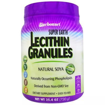 Лецитин, Lecithin Granules, Super Earth, Bluebonnet Nutrition, 720 гр (25.4 унций)
