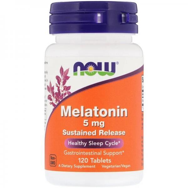 Мелатонин, Melatonin, Now Foods, 5 мг, 120 капсул
