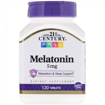 Мелатонин, 5 мг, 21st Century, 120 таблеток