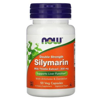 Силимарин (Расторопша), Sylimarin, Now Foods, 300 мг, 50 капсул