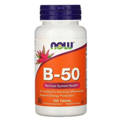 B-комплекс 50, Now Foods, 100 таблеток
