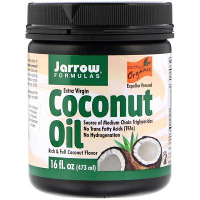 Органическое кокосовое масло, Extra Virgin Coconut Oil, Jarrow Formulas, 473 мл