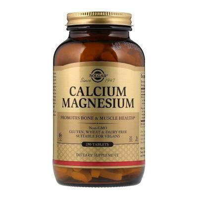Кальций и магний, Calcium Magnesium, Solgar, 250 таблеток