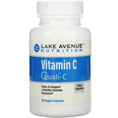 Витамин С, Vitamin C, Quali-C, Lake Avenue Nutrition, 1000 мг, 60 капсул