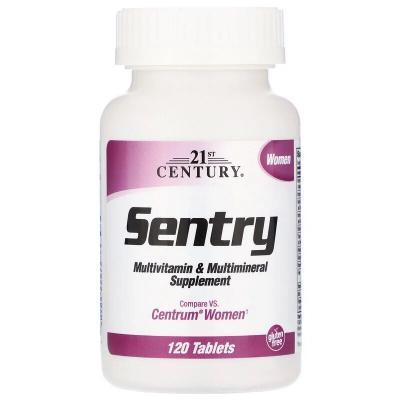 Мультивитамины и мультиминералы для женщин, Sentry Senior, 21st Century, 120 таблеток