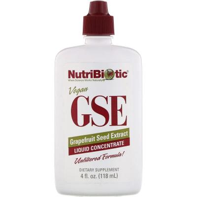 Экстракт грейпфрутовой косточки, GSE Grapefruit Seed Extract, NutriBiotic, 118 мл