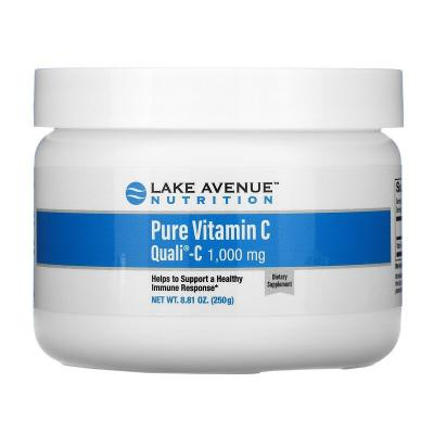 Чистый витамин С в порошке, Pure Vitamin C, Quali-C, Lake Avenue Nutrition, 1000 мг, 250 г (8,81 унции)