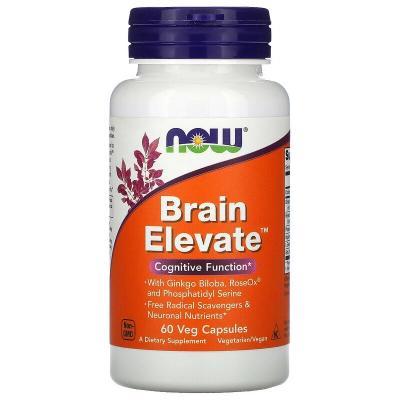 Витамины для мозга, Brain Elevate, Now Foods, 60 растительных капсул
