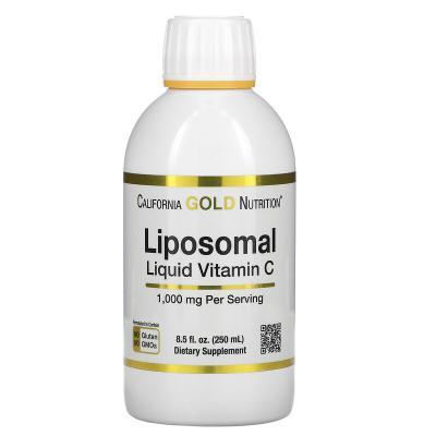Липосомальный жидкий витамин C, с нейтральным вкусом, California Gold Nutrition, 1000 мг, 250 мл