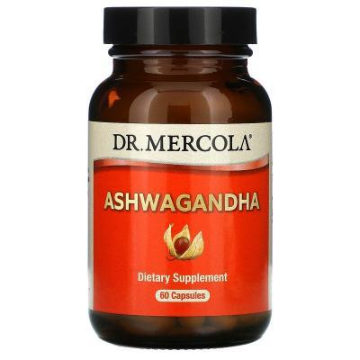 Ашваганда, Ashwaganda, Dr. Mercola, 60 капсул