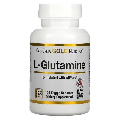 L-глютамин, L-Glutamine, California Gold Nutrition, 120 растительных капсул