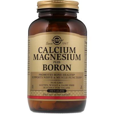 Кальций, магний + борон, Calcium Magnesium Plus Boron, Solgar, 250 таблеток