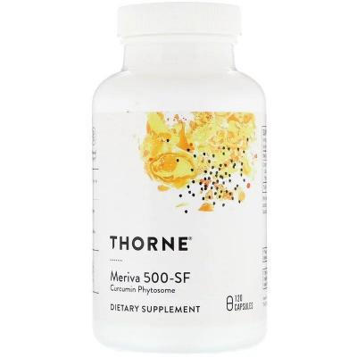 Куркумин, Meriva 500-SF, Thorne Research, 120 капсул
