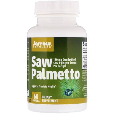 Со Пальметто, Saw Palmetto, Jarrow Formulas, 160 мг, 60 капсул