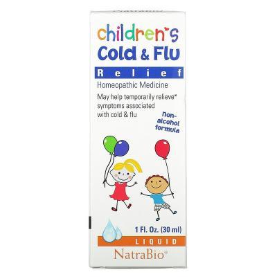 Средство от простуды и гриппа для детей, NatraBio, 30 мл (1 жидк. унция)