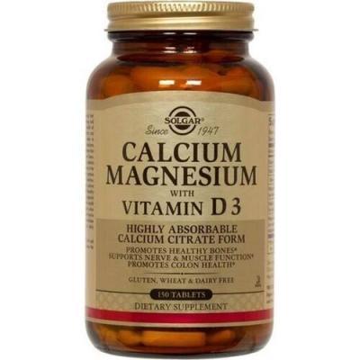 Кальций магний Д3 (Calcium Magnesium), Solgar, 150 таблеток