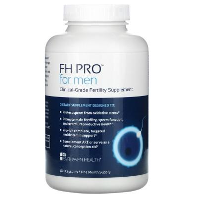 FH Pro для мужчин, добавка для улучшения фертильности клинического класса, Fairhaven Health, 180 капсул