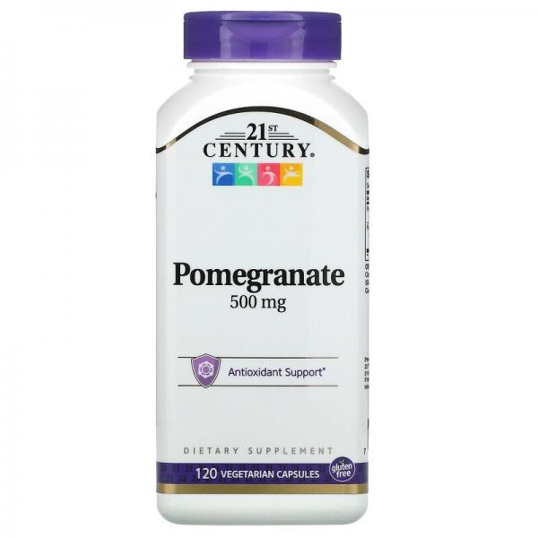 Гранат, Pomegranate, 21st Century, 500 мг, 120 капсул
