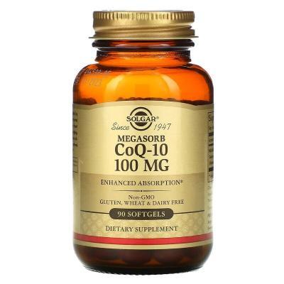 Коэнзим Q10, CoQ-10 Megasorb, Solgar, 100 мг, 60 капсул