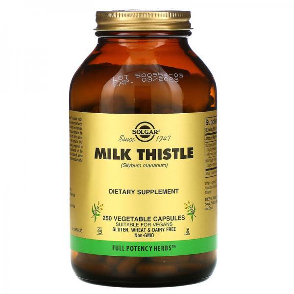Расторопша, Milk Thistle, Solgar, 250 капсул
