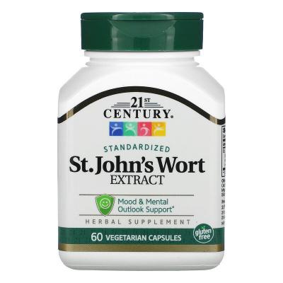 Экстракт зверобоя, St. John's Wort Extract, 21st Century, 60 капсул