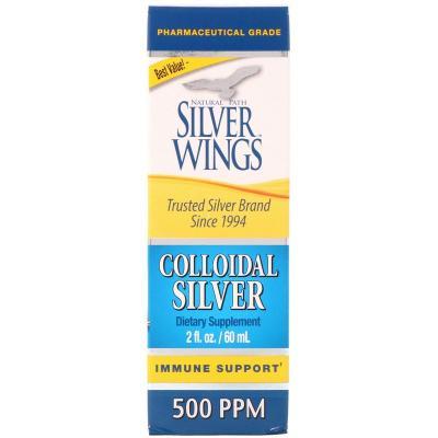 Коллоидное серебро, Natural Path Silver Wings, 500 ч/млн, 60 мл