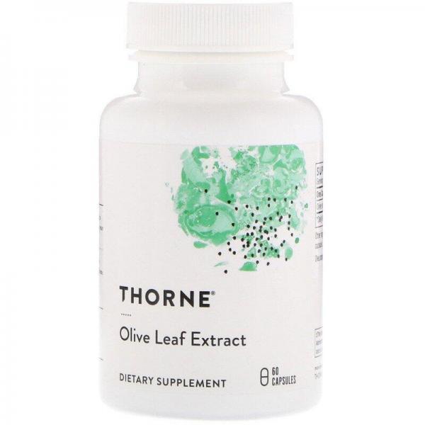Экстракт листьев оливы, Olive Leaf, Thorne Research, 60 капсул