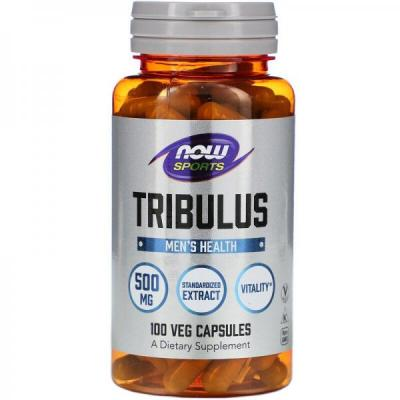 Трибулус, Tribulus, Now Food, Sports, 500 мг, 100 капсул
