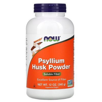 Подорожник, порошок из шелухи семян, Psyllium Husk Powder, Now Foods, 340 г (12 унций)