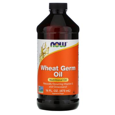 Масло зародышей пшеницы, Wheat Germ Oil, Now Foods, 473 мл