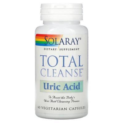 Средство для очищения от мочевой кислоты, Total Cleanse Uric Acid, Solaray, 60 растительных капсул