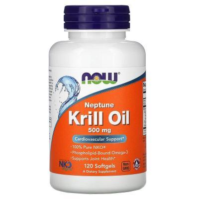 Масло морского криля «Нептун», Neptune Krill Oil, Now Foods, 500 мг, 120 мягких таблеток