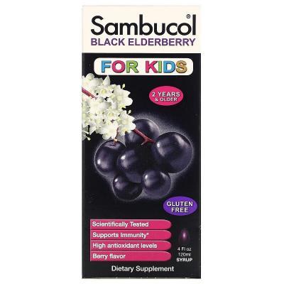 Черная бузина, поддержка иммунной системы, для детей, Sambucol, 120 мл