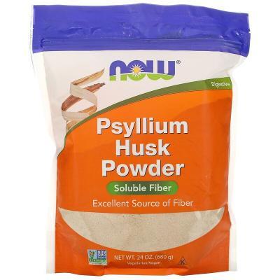 Подорожник, порошок из шелухи семян, Psyllium Husk Powder, Now Foods, 680 Г (1,5 фунта)