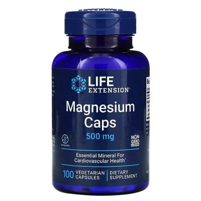 Магний, Magnesium, Life Extension, 500 мг, 100 капсул