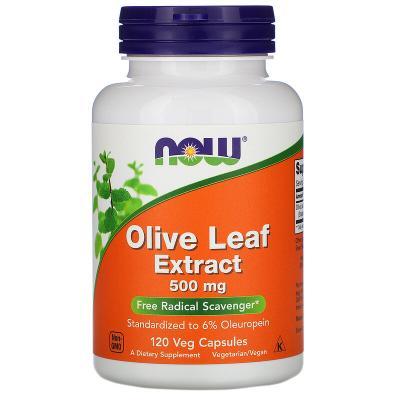 Экстракт оливковых листьев, 500 мг, Now Foods, 120 капсул