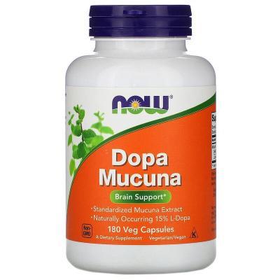 Мукуна Жгучая, Dopa Mucuna, Now Foods, 180 капсул