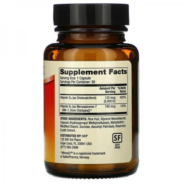 Витамин Д3 и К2, Vitamins D3 & K2, Dr. Mercola, 30 капсул