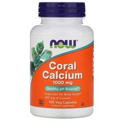 Кальций из кораллов, Coral Calcium, Now Foods, 1000 мг, 100 вегетарианских капсул