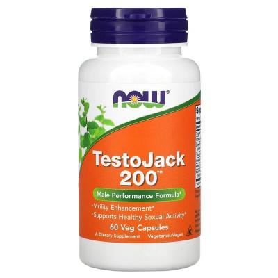 Репродуктивное здоровье мужчин, TestoJack 200, Now Foods, 60 вегетарианских капсул