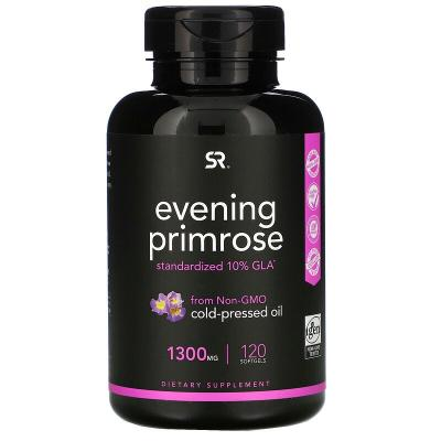 Примула вечерняя, Evening Primrose, Sports Research, 1300 мг, 120 мягких таблеток
