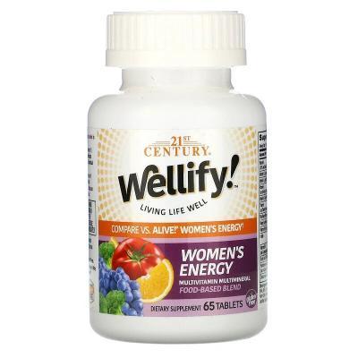 Мультивитамины и мультиминералы для женщин, Women's Energy Multivitamin Multimineral, Wellify, 21st Century, 65 таблеток