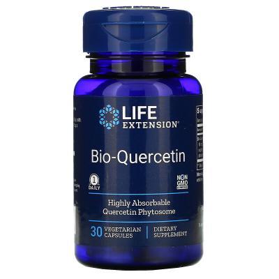 Био-кверцитин, Bio-Quercetin, Life Extension, 30 вегетарианских капсул