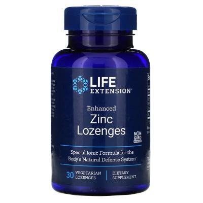 Цинковые вегетарианские леденцы усовершенствованной формулы, 18,75 мг, Life Extension, 30 шт.