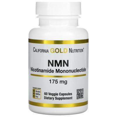Никотинамид мононуклеотид, NMN (Nicotinamide Mononucleotide), California Gold Nutrition, 175 мг, 60 растительных капсул