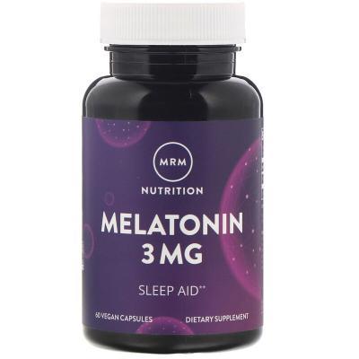 Мелатонин, Melatonin, MRM, 3 мг, 60 веганских капсул