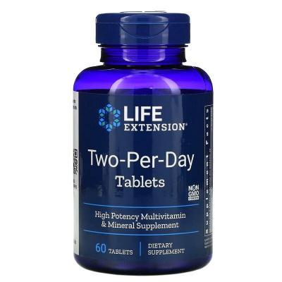 Мультивитамины, Two-Per-Day, Life Extension, 60 таблеток